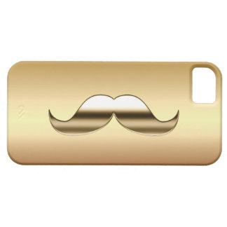 Apenas un caso del iPhone 5 del bigote del oro Funda Para iPhone 5 Barely There