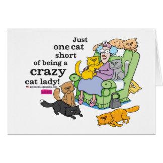 Apenas un cortocircuito del gato de ser una señora tarjeta