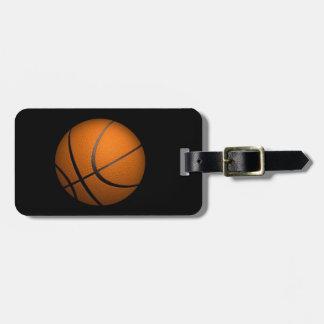 Apenas un deporte del baloncesto de la bola etiquetas para maletas