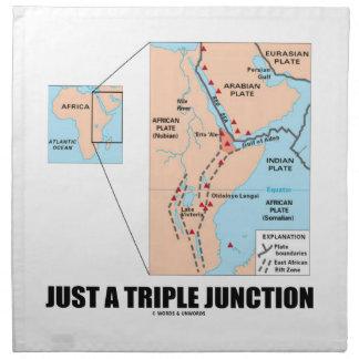 Apenas un empalme triple (lejos triángulo) servilletas de papel