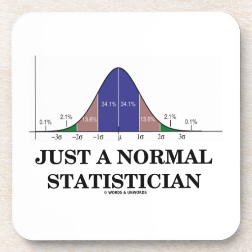 Apenas un estadístico normal (humor de la curva de posavaso