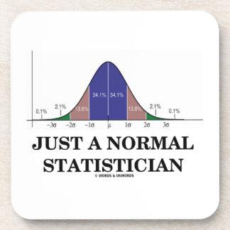 Apenas un estadístico normal (humor de la curva de posavasos de bebidas