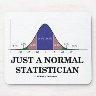 Apenas un estadístico normal humor de la curva de alfombrilla de ratón