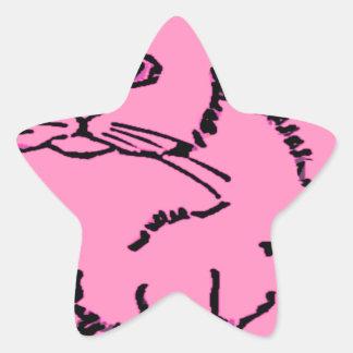 apenas un gato pegatinas forma de estrella