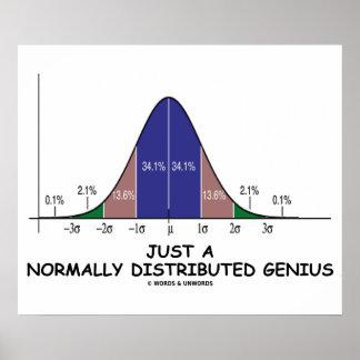 Apenas un genio normalmente distribuido (humor del impresiones