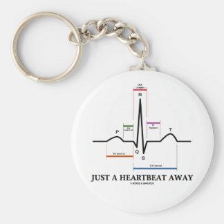Apenas un latido del corazón lejos (EKG/ECG) Llavero Redondo Tipo Pin