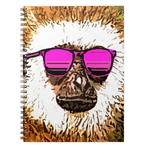 apenas un mono fresco libretas espirales