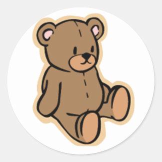 Apenas un oso de peluche etiqueta redonda