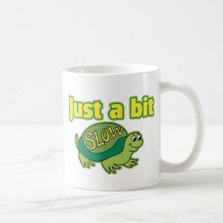 Apenas un pedazo lento taza de café