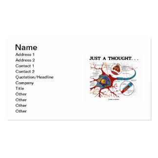 Apenas un pensamiento… (Neurona/sinapsis) Plantillas De Tarjetas Personales