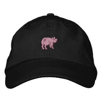 Apenas un pequeño cerdo lindo gorra de beisbol bordada