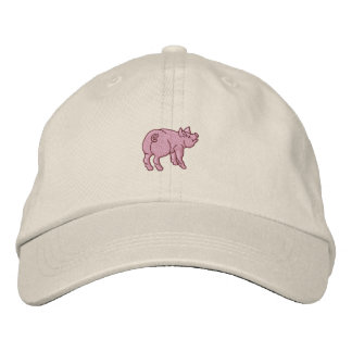 Apenas un pequeño cerdo lindo gorras de béisbol bordadas