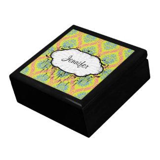 apenas un poco de damasco enrrollado caja de joyas