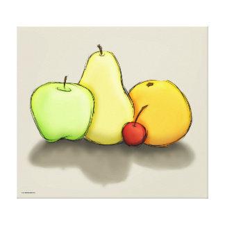 Apenas un poco de fruta lona estirada galerias