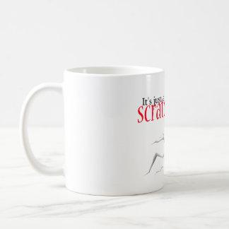 apenas un rasguño taza básica blanca