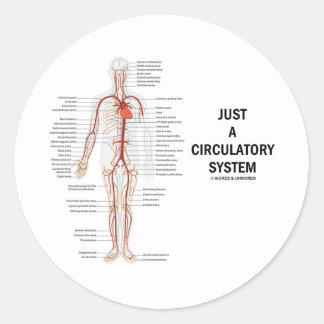 Apenas un sistema circulatorio (circulación de las etiqueta redonda