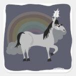 Apenas un unicornio triste de Emo Calcomanías Cuadradass Personalizadas