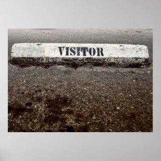 Apenas un visitante póster