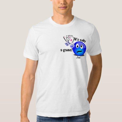 ¡apenas una camiseta del juego, está solamente, un poleras