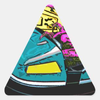 apenas una cierta diversión pegatina de triangulo personalizadas