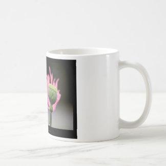 Apenas una flor - flor rosada 015 de la amapola tazas de café