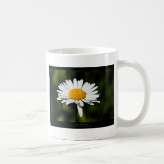 Apenas una flor - margarita blanca 005 taza de café