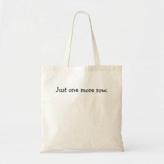 Apenas una más fila bolsa tela barata