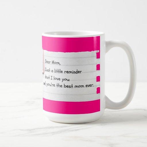 Apenas una pequeña taza del día de madre del recor