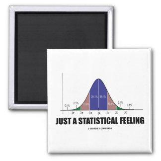 Apenas una sensación estadística (humor imán cuadrado