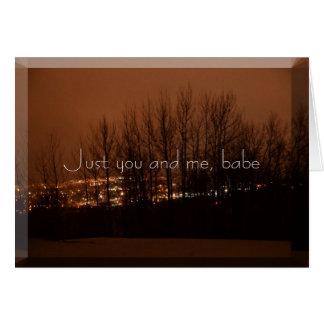 Apenas usted y yo tarjeton