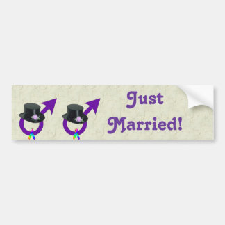 Apenas varón gay formal casado pegatina para auto