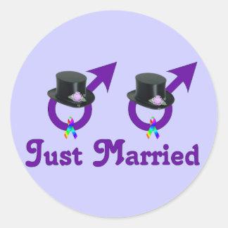 Apenas varón gay formal casado etiquetas redondas