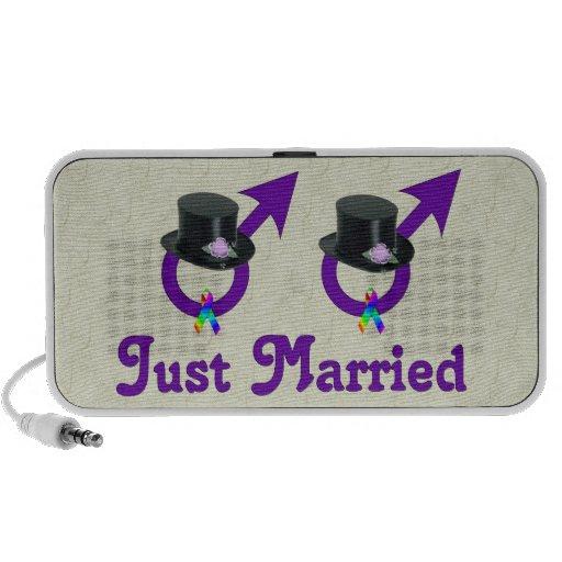 Apenas varón gay formal casado portátil altavoz