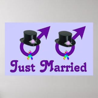 Apenas varón gay formal casado póster
