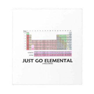 Apenas vaya elemental (la tabla de elementos libreta para notas