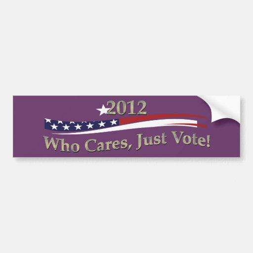 ¡Apenas voto! Etiqueta De Parachoque