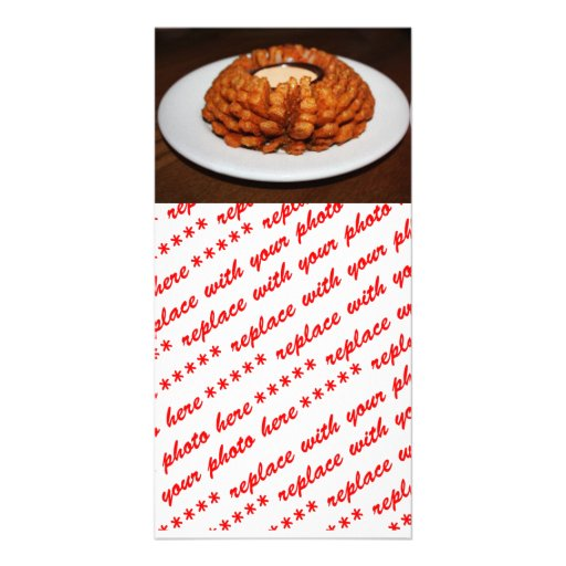 Aperitivo de la cebolla tarjetas personales con fotos