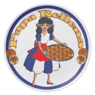 Aperitivos cubanos de la cocina - placa del rellen plato para fiesta