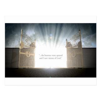 Apertura de las puertas de los cielos tarjetas postales
