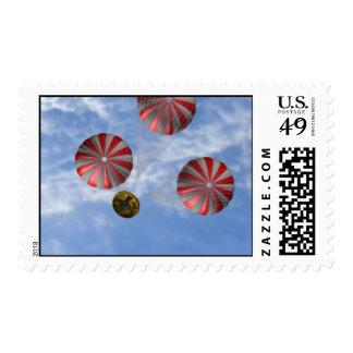 Apertura de los paracaídas de la recuperación de sello