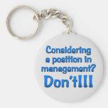Apertura en la gestión llavero personalizado