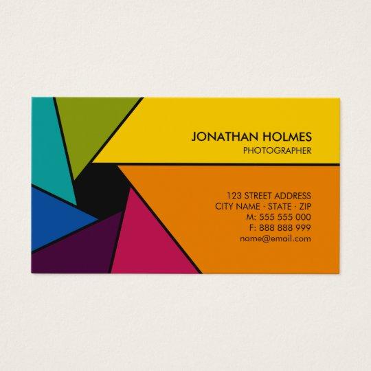 Aperture Colors Photographer business card