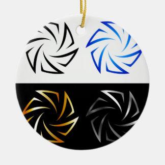 Aperture in different colors ceramic ornament