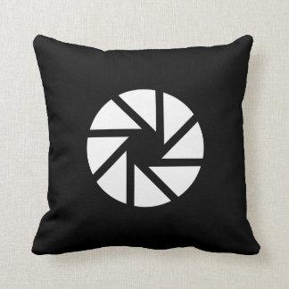 Aperture Pictogram Throw Pillow