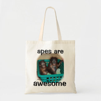 Apes are Awesome Budget Tote Bag