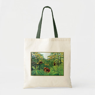 """""""Apes in the Orange Grove"""" by Henri Rousseau Tote Bags"""