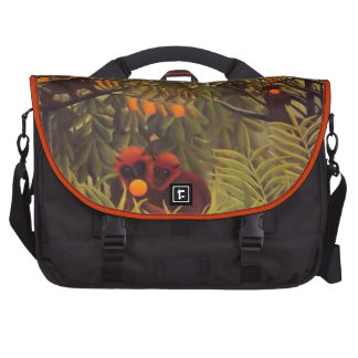 apes in the orange grove laptop commuter bag