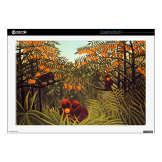"""apes in the orange grove 17"""" laptop skin"""