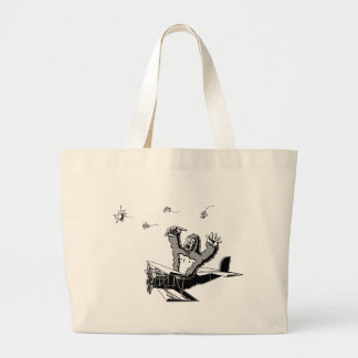 Apes On Planes Large Tote Bag