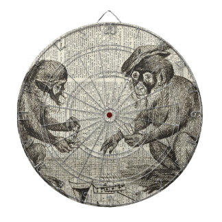 Apes playing cards dartboards